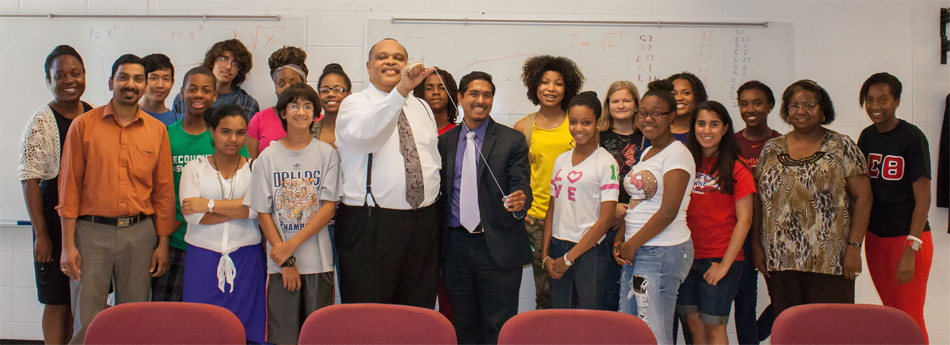 Dr. Calvin Lowe, Dean and the Nano-HU Pioneers summer program.