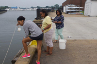 Kecoughtan High School Group Collecting Water Samples