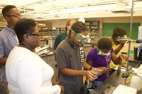 Bethel High School Group in HU Chemistry Lab
