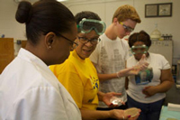 Phoebus High School Group in the HU Microbiology Laboratory