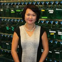 Dr. Chan in Zebrafish lab.
